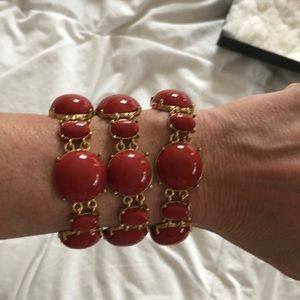 Banana republic triple strand beaded cuff